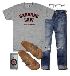 """""""what? Like it's hard?"""" by legitimately-kierstin ❤ liked on Polyvore featuring Abercrombie & Fitch, Birkenstock and Sperry"""