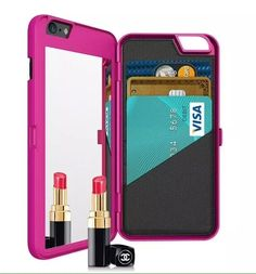 "Cosmetic Mirror Makeup Case hidden Wallet Cover For iPhone 6 4.7"" / 5.5"" Plus"