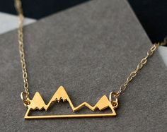 Mountain Necklace Sterling Silver Mountain by themoonflowerstudio
