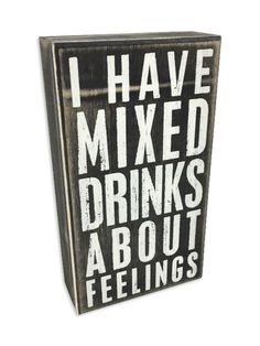 Mixed Drinks Box Sign