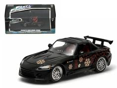 """Johnny's 2000 Honda S2000 Black """"The Fast and The Furious"""" Movie (2001 ) 1/43 Diecast Model Car by Greenlight - Brand new 1:43 scale diecast car model of Johnny's 2000 Honda S2000 Black """"The Fast and The Furious"""" Movie (2001 ) die cast car model by Greenlight. Rubber tires. Brand new box. Limited Edition. Detailed interior, exterior. Comes in plastic display showcase. Dimensions approximately L-5 inches long.-Weight: 1. Height: 5. Width: 9. Box Weight: 1. Box Width: 9. Box Height: 5. Box…"""