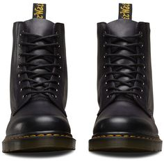 Dr. Martens Leather Pascal Antique Temperley Ankle Boots (€130) ❤ liked on Polyvore featuring shoes, boots, ankle booties, purple, slip resistant boots, real leather boots, short boots, ankle boots and leather boots