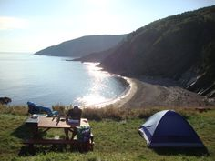 "Camping at the edge of the world - Meat Cove, Northern Cape Breton.I'm going back to see this with my 'grown-up"" eyes! O Canada, Canada Travel, Beautiful Places To Visit, Places To See, Cap Breton, Go Camping, Camping Spots, Atlantic Canada, Newfoundland"