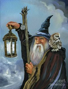 Wizard Tattoo, Dragons, Wiccan Art, Fantasy Wizard, Arte Obscura, Gandalf, Fantasy Illustration, Fantasy Artwork, Fantasy World