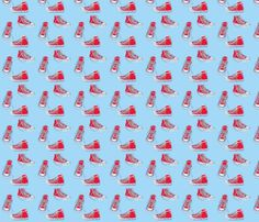 singing in my school shoes fabric by mezzime on Spoonflower - custom fabric