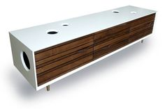 This retro-looking credenza from RAAD studio is not only an inspired piece of design, made to give your space that awesome mid-century vibe. There is a high-end stereo system incorporated into the ...