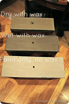 CeCe Caldwell wax - chalk paint techniques