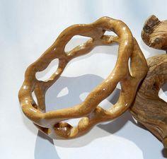 Wooden bracelet Wooden bangle maple.