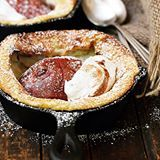 This Red Pear Dutch Baby is new on the blog today. Easy and delicious Fall dessert. Enjoy warm with a dollop of cinnamon whipped cream! Link to recipe in profile and comments. #dutchbaby #pear #redpears #castironbaking #skilletbaking #recipe #foodblogger #fbcigers #thefeedfeedbaking