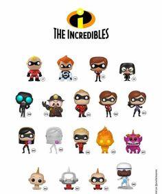 Funko Pop The Incredibles Pop Figures Disney, Funko Pop Figures, Vinyl Figures, Disney Incredibles, Disney Movies, Best Funko Pop, Funko Pop Display, The Maxx, Funko Pop Dolls
