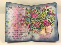 Journal page made by Erica Evans using Creative Stamping magazine stamps and Aladine Izinks
