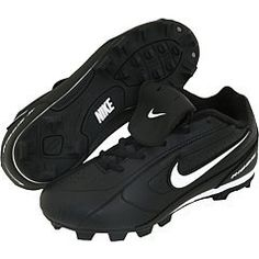 Nike 309303 Ribbie JR - Black by Nike. $24.99. Little cleats for tomorrow's diamond dominators. The Nike Ribbie Jr. (10c6y) Boys' Baseball Cleat is a lightweight, cushioned shoe with breathable synthetic leather and rubber cleats for supreme grip. A midsole EVA wedge delivers lightweight cushioning. A performance rubber outsole utilizes Nike Regrind technology for enhanced sustainability.