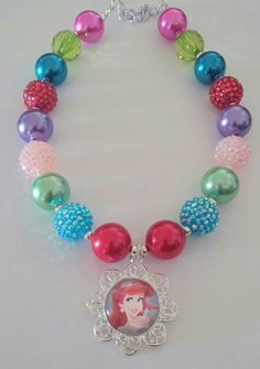 Ariel Chunky Bead Necklace by DolledUpSpaBoutique