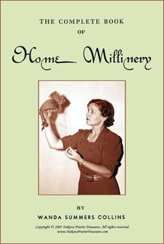 1951 MILLINERY Hat Making Book Retro COLLINS by schmetterlingtag, $14.99