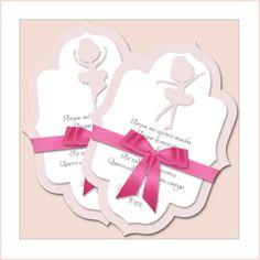 Invitación bailarina   Tamaño A4 (invitación, 3 bailarinas y circulo)   Importante leer descripción del producto