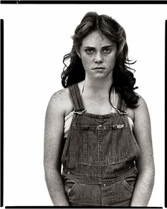 Richard Avedon - Sandra Bennett, 12 years old, Rocky Ford, Colorado, August 23, 1980 -  Between teen and adult, man's clothes and woman's beauty, at the edge of time.