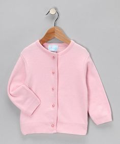 Take a look at this Pink Pearl-Button Cardigan - Infant, Toddler & Girls by Barrel Sportswear on #zulily today!