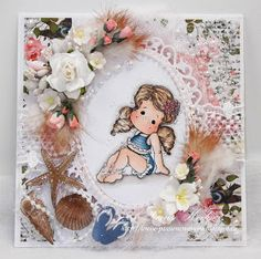 Handmade Card w/ feather embellishments.