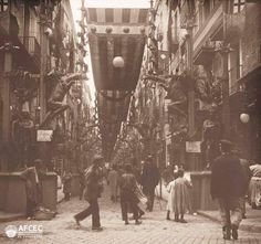 Carrer engalanat per les festes de la Mercè, #Barcelona 1902 AFCEC_BORDAS_X_066