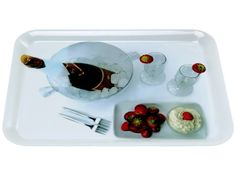 Present Time Champagne Photo Print Melamine Serving Tray | Kitchenwarecide Store