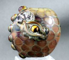 Dragon Lampwork Bead handmade glass dragon bead by lampworkbyjulie, $38.00