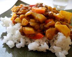 Lentil Vegetable Coconut Korma (gluten free, dairy free, vegetarian)