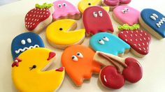 Check out this item in my Etsy shop https://www.etsy.com/listing/274133860/pacman-sugar-cookies-pacman-sugar