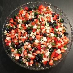 Red White Blue summer salsa for our Veterans Day concert and dance party.