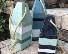 Lobster Buoys (Set of - Wooden Buoys, Nautical Decor, Buoy Decor, Ocean Decor, Beach Decor Cottage Style Homes, Beach Cottage Style, Coastal Cottage, Coastal Style, Beach House Decor, Coastal Decor, Oar Decor, Coastal Entryway, Coastal Rugs
