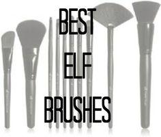 The Best ELF Brushes-- fantastic brushes, super cheap Elf Makeup Dupes, Drugstore Makeup, Makeup Cosmetics, Makeup Tips, Elf Products, Best Makeup Products, Beauty Products, Beauty Dupes, Elf Brushes