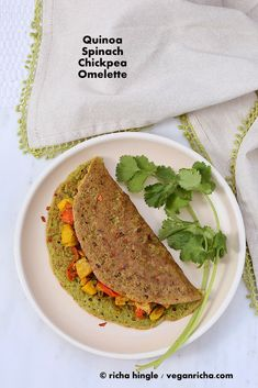 Spinach Quinoa Chickpea Omelette. Soyfree Glutenfree Vegan Recipe - Vegan Richa