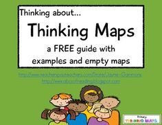 Thinking about...Thinking Maps!   This is a FREE guide to eight maps: Circle, Bubble, Double-Bubble, Flow, Multi-Flow, Brace, Tree, and Bridge. There are three examples for each type of map as well as a blank map.