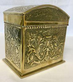 Keswick school ksia brass tea casket with motto Casket, Motto, Metal Working, Decorative Boxes, Brass, Tea, School, Home Decor, Decoration Home
