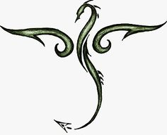 Tribal_Dragon_by_mordigen Color and simplicity #dragon #tattoos #tattoo