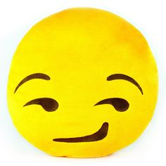 "- The original Emoji Pillows® - Highest quality, made with super soft plush - Measures roughly 13"" across - #THROWBOYSMIRK When words aren't enough Emoji Pillows® let you say it with a smile! Get your"