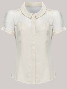 40's Vintage Inspired 'Florance' Blouse in Cream