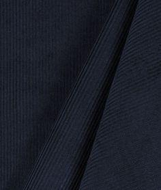 Navy Blue 11 Wale Corduroy Fabric