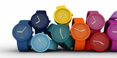 O clock szilikon karóra (színes óraszerkezet + szíj)