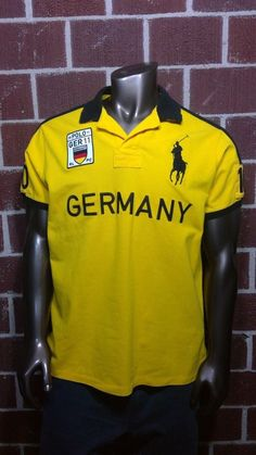 0565d3e0 Polo Ralph Lauren Germany Polo Shirt Mens XL Embroidered #10 Custom Fit  Jersey #PoloRalphLauren