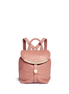 SEE BY CHLOÉ 'Lizzie' Leather Backpack. #seebychloé #bags #leather #lining #backpacks #cotton #