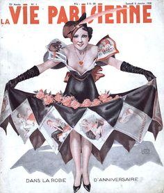 La Vie Parisienne January 1935 Illustration by Georges Leonnec