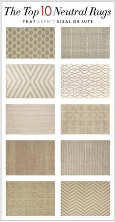 Top 10 Neutral Rugs that Aren't Sisal or Jute via Kelly Market