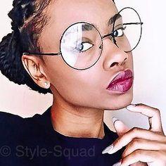 9c2330799eeb Oversized Round Black Metal Clear Lens Hipster Nerd Big Eye Glasses Frames  033 L