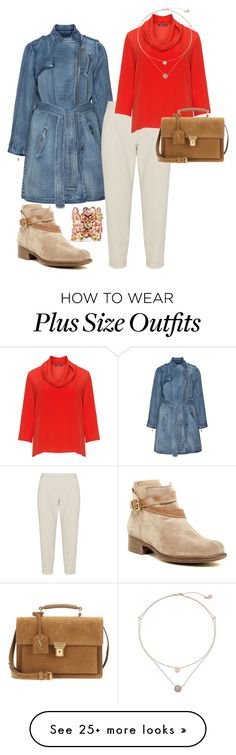 """""""plus size trench"""" by aleger-1 on Polyvore featuring Jean Marc Philippe, Manas, navabi, Elena Mirò, Michael Kors and Yves Saint Laurent"""