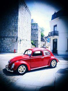 Red Beetle, Beetle Car, Volkswagen Bus, Vw Camper, Cars And Motorcycles, Indian Motorcycles, Old Bug, Bug Car, Vw Bugs