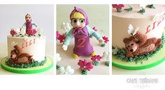 © Mary Das, Cake Thérapie Masha and the Bear, buttercream cake.