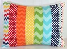 Pillow Cover  12 x 16 Inches  Rainbow Nursery  by theredpistachio