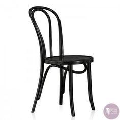 Replica Thonet Timber Chair - Black