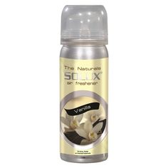 SOLUX® Air Fresheners | A flowery twist to the fragrance of the vanilla bean in a 70ML Spray Bottle | soluxairfresheners.com