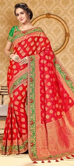 5d1ad9f25a2c2d 773735 Pink and Majenta color family Silk Sarees in Dupion Silk fabric with  Border